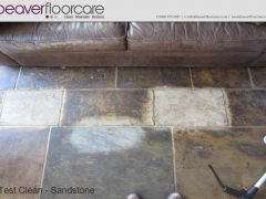 Sandstone Cleaning Test