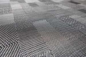 black and white Bolon floor