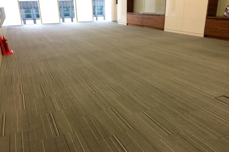 clean grey carpet tiles
