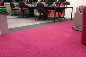 clean pink office carpets