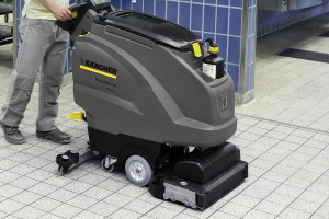 floor cleaning scrubber drier machine