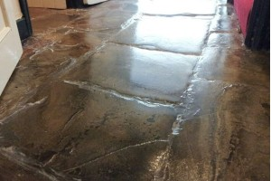 Flagstone floor restoration - after