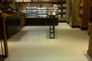 clean Terrazzo shop foor
