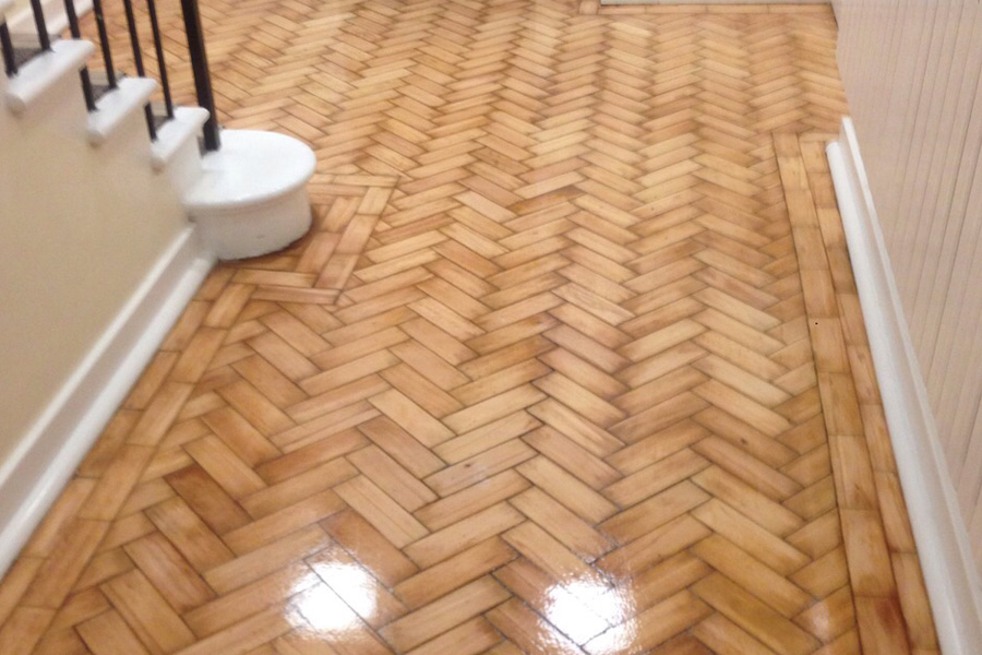 Wood floor restoration beaver floorcare for Hardwood floors slippery