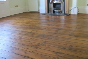 Restored domestic wood floor