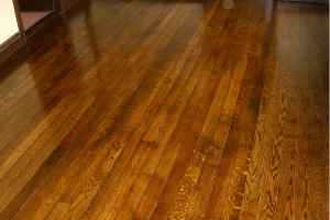 restored dark wood floor
