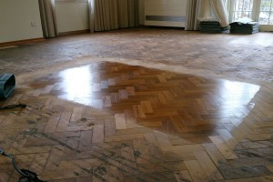 Wood floor restoration example birmingham