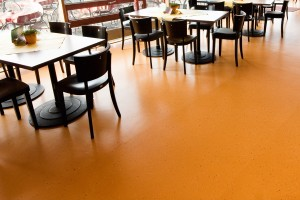 Orange floor coating