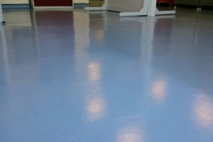 blue recoloured floor