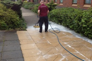 exterior floor cleaning, restoration and maintenance