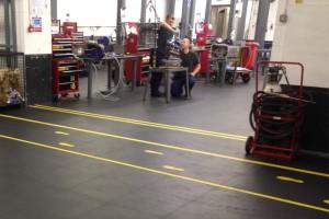 Clean industrial flooring