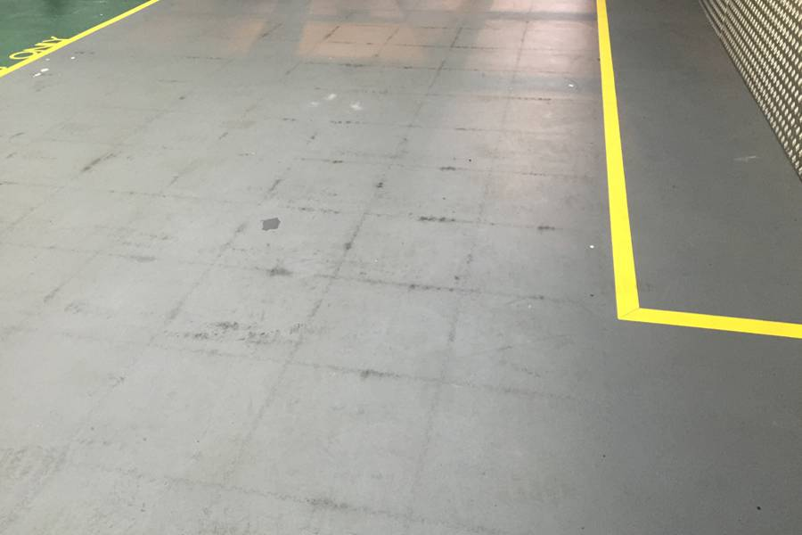 Dirty Industrial Floor