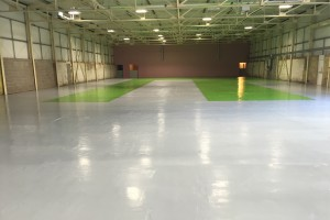 epoxy coated warehouse floor